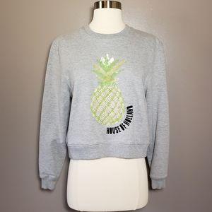 House of Holland Embellished Pineapple Sweatshirt